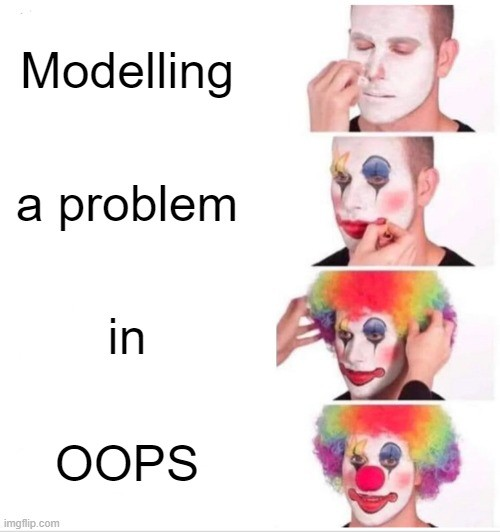 modelling a problem in OOPS
