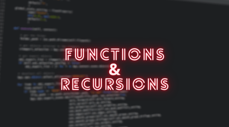 functions and recursion in Python