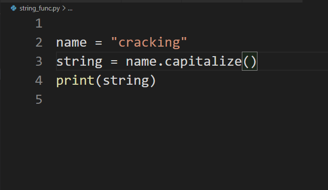 capitalize function